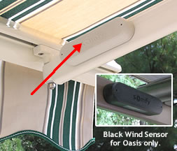 Wireless Wind Sensor for Motorized Awning