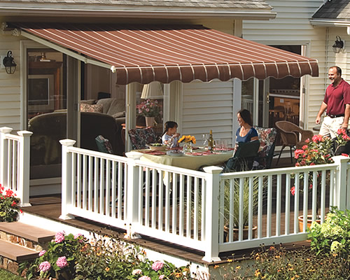 sunsetter awnings retractable deck and patio awning