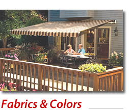 Awnings Fabrics and Colors.