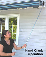Awning with Hand Crank Operation