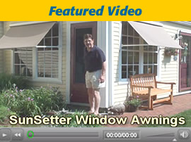 SunSetter Window Awning Video