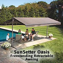 Sunsetter Freestanding Canopy Is Better Than Fixed Canopies