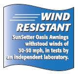Awnings test for Wind Resistant